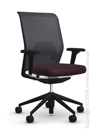 Кресло Vitra ID Mesh Nero, Plano Brown