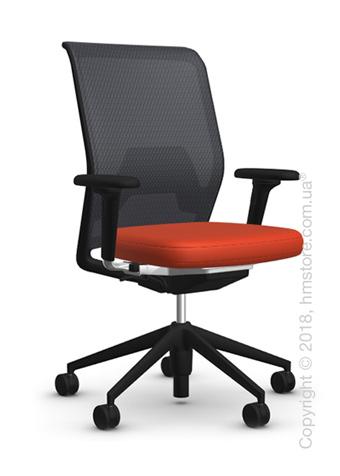 Кресло Vitra ID Mesh Nero, Plano Orange