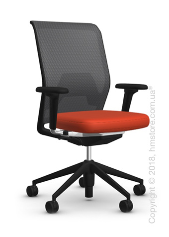 Кресло Vitra ID Mesh Asphalt, Plano Orange