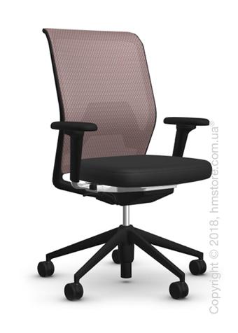 Кресло Vitra ID Mesh Mauve Grey, Plano Nero