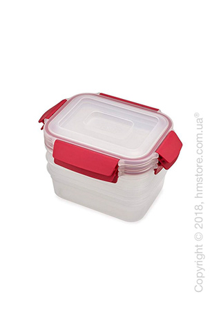 Набор контейнеров для хранения Joseph Joseph Nest Lock Same-Size Red, 3 предмета