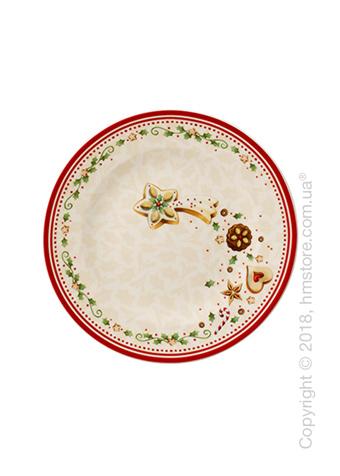 Тарелка десертная мелкая Villeroy & Boch коллекция Winter Bakery Delight, 21,5 см, Falling Star