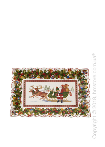 Блюдо для подачи Villeroy & Boch коллекция Toy's Fantasy, 35х22,5 см, Packing Santa's sleigh