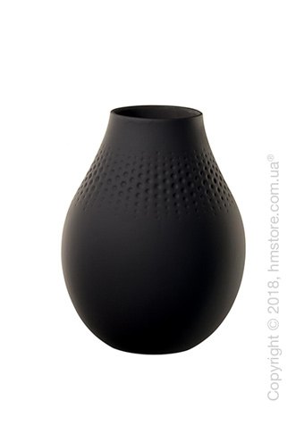 Ваза Villeroy & Boch коллекция Collier Perle, 20 см, Black