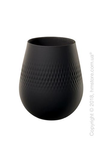 Ваза Villeroy & Boch коллекция Collier Carré, 14 см, Black