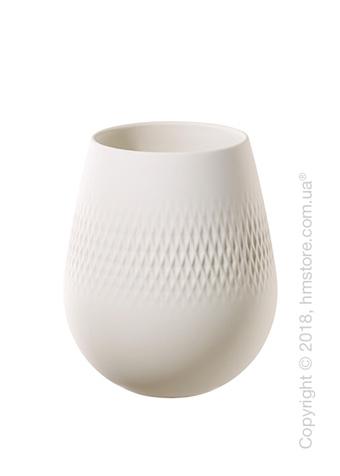 Ваза Villeroy & Boch коллекция Collier Carré, 14 см, White