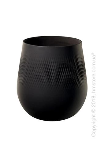Ваза Villeroy & Boch коллекция Collier Carré, 22,5 см, Black