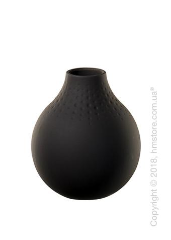 Ваза Villeroy & Boch коллекция Collier Perle, 12 см, Black
