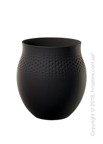 Ваза Villeroy & Boch коллекция Collier Perle, 17,5 см, Black