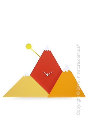 Часы настенные Progetti Sunset Wall Clock, Orange and Red