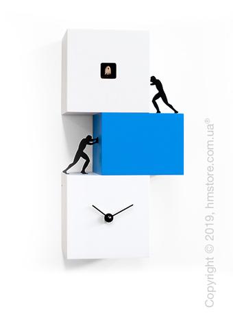 Часы настенные Progetti Strong Cucù 2 Wall Clock, White and Blue
