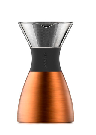Кофеварка портативная Asobu Pour Over, Copper and Black 1100 мл