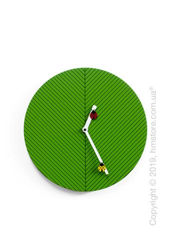 Часы настенные Progetti Time2bugs Wall Clock, Green