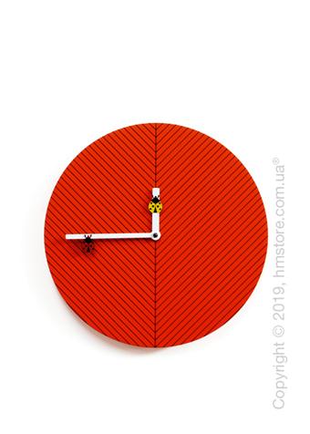 Часы настенные Progetti Time2bugs Wall Clock, Red