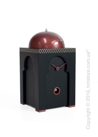 Часы настольные Progetti Sheikh Clock with Greek Fret, Black