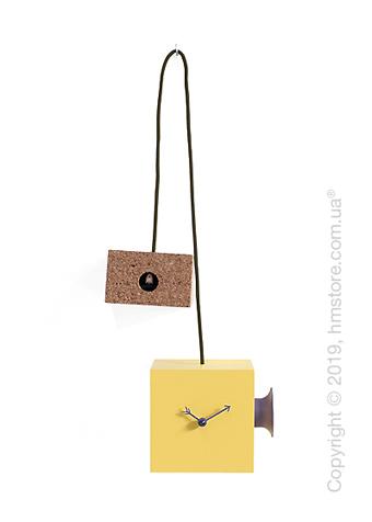 Часы Progetti Uhuhu Clock, Yellow and Purple
