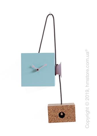 Часы Progetti Uhuhu Clock, Light Blue and Pink
