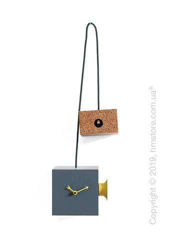 Часы Progetti Uhuhu Clock, Gray and Yellow