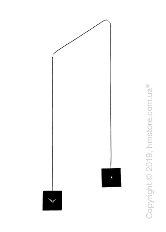 Часы настенные Progetti TuTu Wall Clock, Black