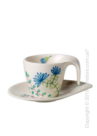 Чашка с блюдцем для эспрессо Villeroy & Boch коллекция Flow Couture, 100 мл