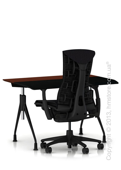 Комплект – стол Herman Miller Envelop Desk, кресло Embody Chair