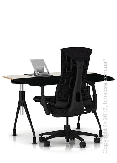 Комплект – стола Herman Miller Envelop Desk, кресло Embody Chair, держатель Lapjack