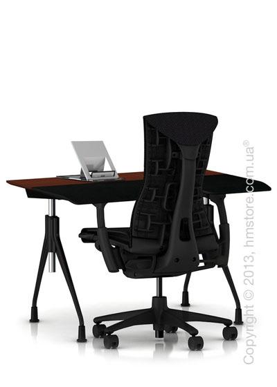 Комплект – стол Herman Miller Envelop Desk, кресло Embody Chair, держатель Lapjack