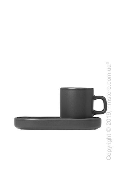 Чашка с блюдцем для эспрессо Blomus коллекция Mio 50 мл, Avage green