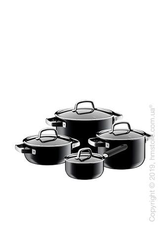 Набор кастрюль WMF коллекция Fusiontec Mineral, 4 предмета, Black