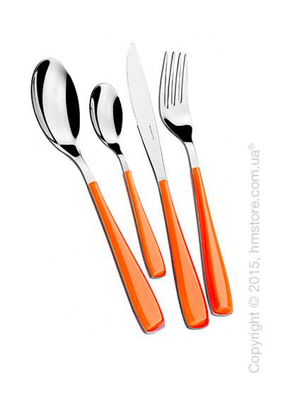 Набор столовых приборов Bugatti Essenza на 6 персон, 24 предмета, Orange