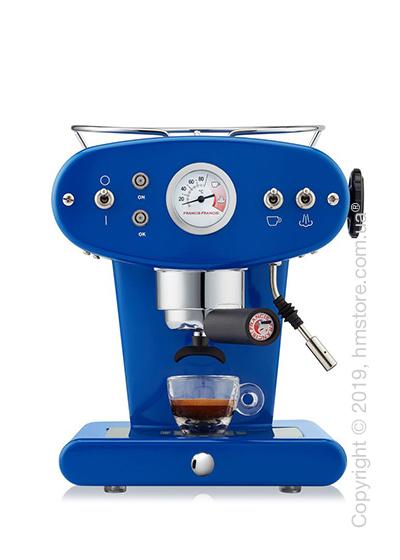 Кофемашина illy X1 Ground Edelstahl Kaffeemaschine, Dark Blue