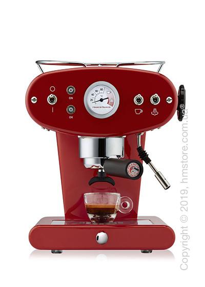 Кофемашина illy X1 Ground Edelstahl Kaffeemaschine, Rubin