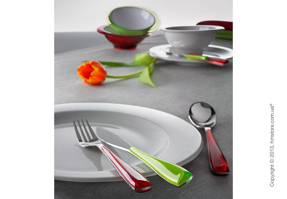 Набор столовых приборов Bugatti Essenza на 6 персон, 24 предмета, Red