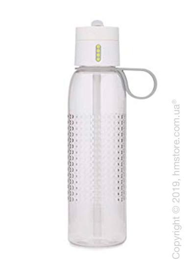 Бутылка для воды Joseph Joseph Dot Active with Hydration Counting Lid, White 750 мл