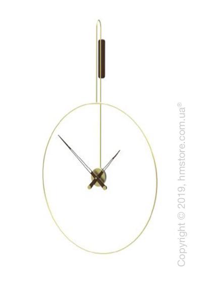 Часы настенные Nomon Daro Wall Clock, Polished brass and Walnut