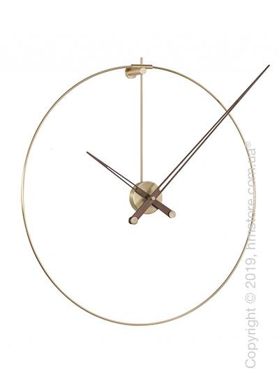 Часы настенные Nomon New Anda Wall Clock, Polished brass and Walnut