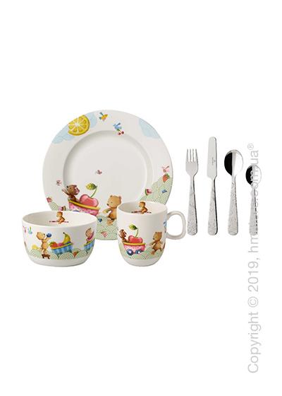 Набор детской посуды Villeroy & Boch коллекция Hungry as a Bear 7 предметов