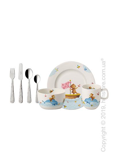 Набор детской посуды Villeroy & Boch коллекция Happy as a Bear, 7 предметов