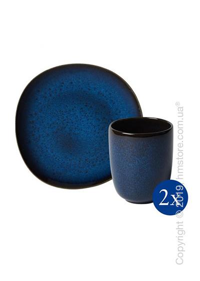 Набор посуды Villeroy & Boch коллекция Lave на 2 персоны, 4 предмета, Blue