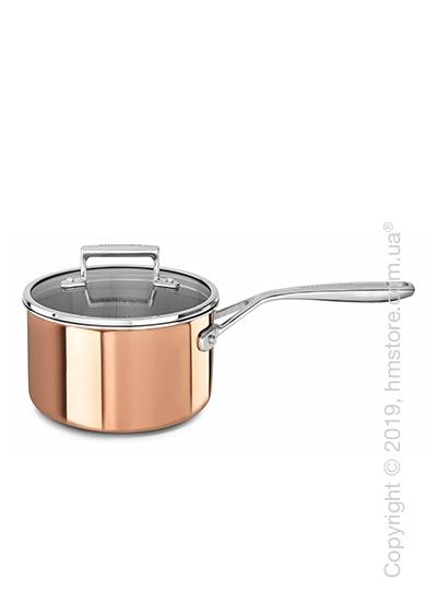 Сотейник с крышкой KitchenAid Casserole серия 3-Ply Copper, 18 см