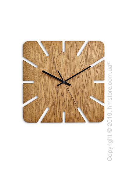 Часы настенные деревянные Moku Design Roppongi, Oak