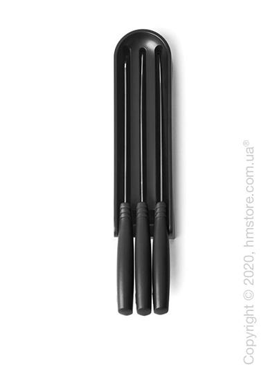 Набор ножей Brabantia Tasty with Block, 4 предмета, Dark Grey