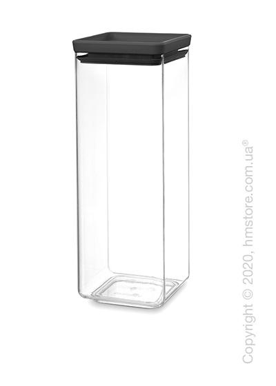 Емкость для хранения сыпучих продуктов Brabantia Square Canister Tasty 2,5 л, Dark Grey