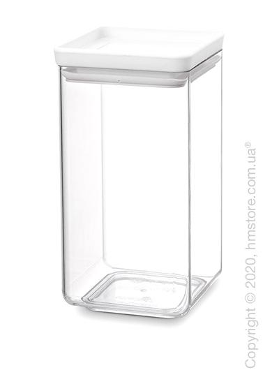 Емкость для хранения сыпучих продуктов Brabantia Square Canister Tasty 1,6 л, Light Grey