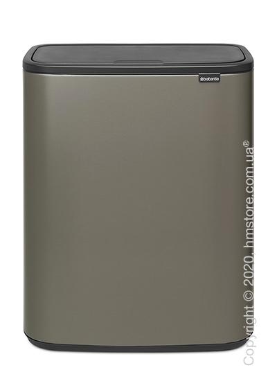 Ведро для мусора двухсекционное Brabantia Bo Touch Bin 30/30 л, Platinum