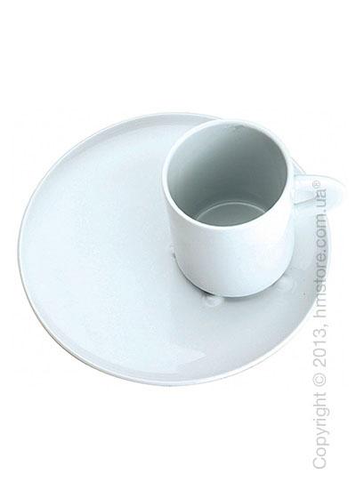 Чашка с тарелкой Bugatti Perla, Белый