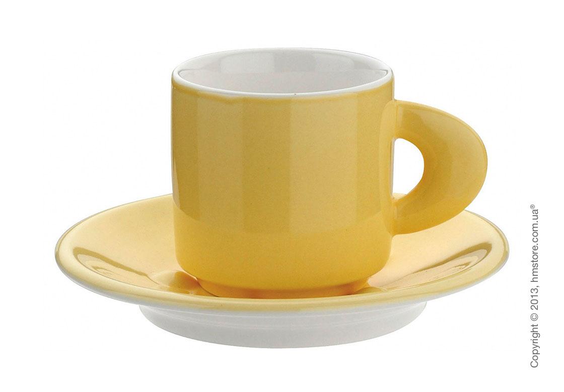 Кофейная чашка с блюдцем Bugatti Perla, Желтая
