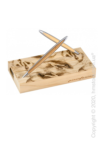 Набор из шариковой ручки и вечного карандаша Pininfarina коллекция Cambiano Box Exclusive Collection 500TH, Cedr and Aluminium