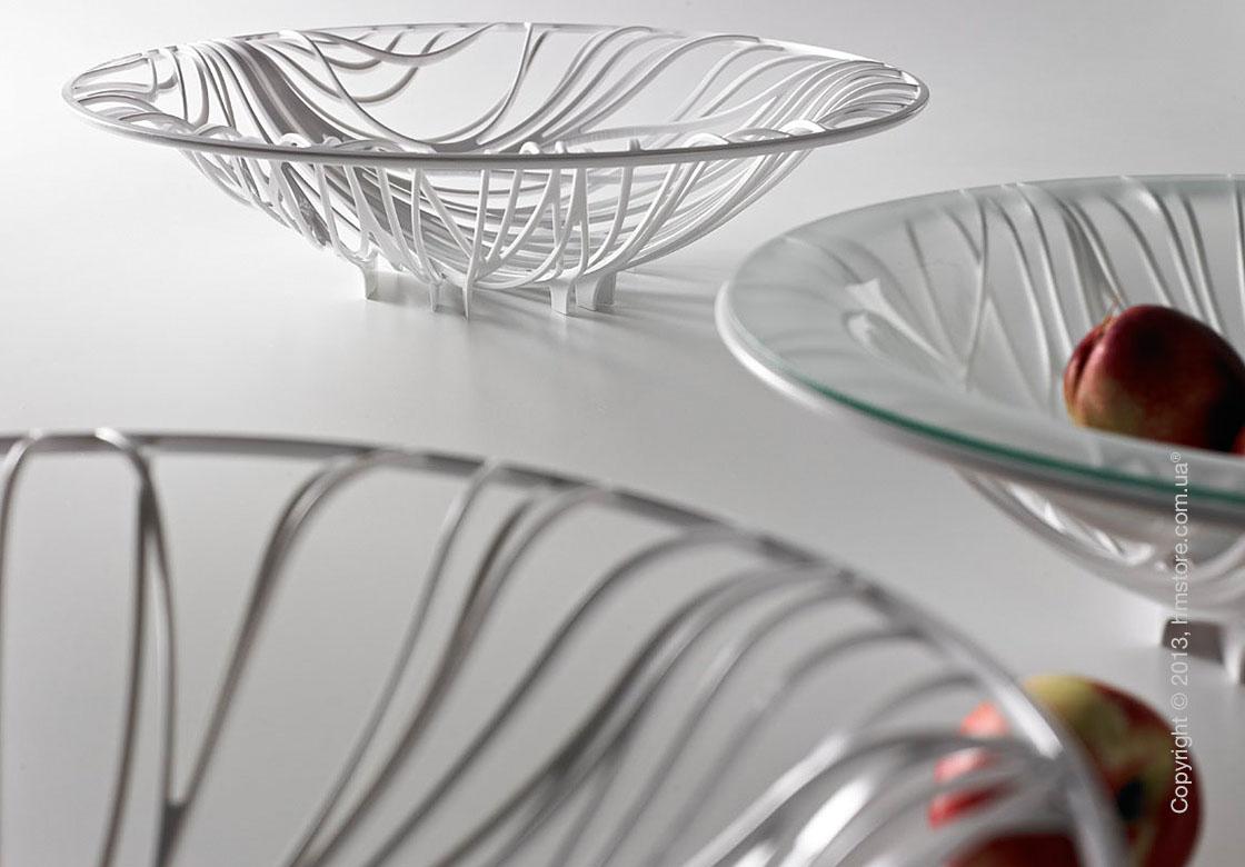 Фруктовница с чашей Bugatti Flora, Белая