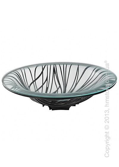 Фруктовница с чашей Bugatti Flora, Черная